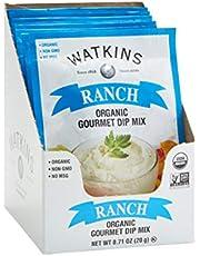 Watkins Organic Gourmet Dip Mix, Ranch, 0.71 oz. Packets, 12-Pack