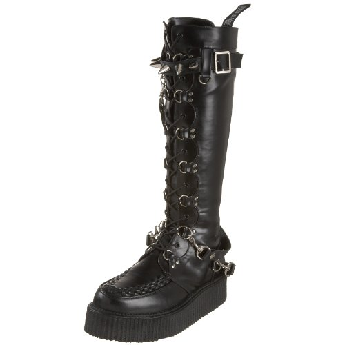 13 EU CREEPER V PU 588 UK Blk Demonia 46 0FYP5qx5