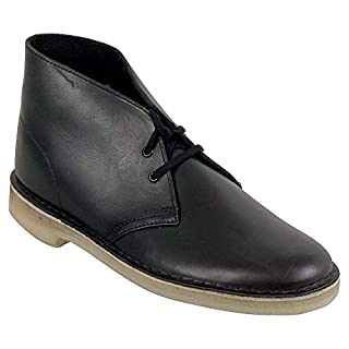 CLARKS Men's Desert Chukka Boot, Leather/Black, 8 M US (B01N32ME5I) | Amazon price tracker / tracking, Amazon price history charts, Amazon price watches, Amazon price drop alerts
