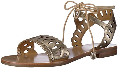 Jack Rogers Women's Ruby Flat Sandal, Platinum, 7 Medium US by Jack Rogers (Image #1)
