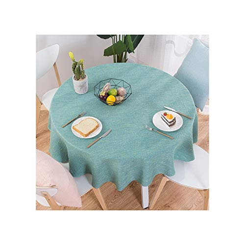 Bigfan Rose Cotton Linen Table Cloth Round Wedding Party Table Cover Nordic Tea Coffee Tablecloths Home Kitchen Decor,02,140Cm Round ()