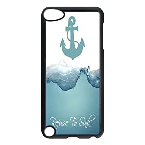 Custom Case Cover for iPod touch5 w/ I Refuse to sink image at Hmh-xase (style 12)