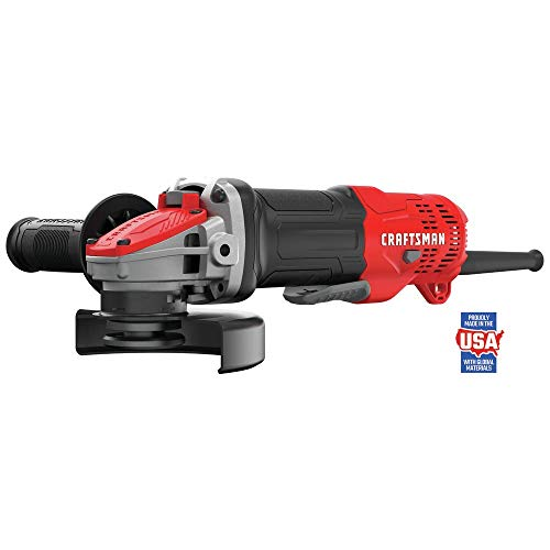 CRAFTSMAN Angle Grinder, Small, 4-1 2-Inch, 7.5-Amp, Tool Only CMEG200