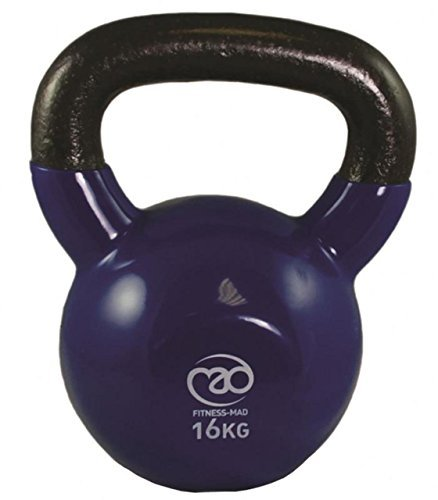 Fitness-Mad Training & Startseite-Gym Training Training Hantel Fett Verbrenunng Kugelhantel - Blau, 16Kg