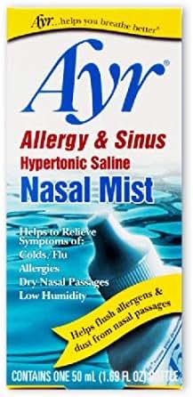 Allergy & Sinus: Ayr Allergy & Sinus Hypertonic Saline Nasal Mist