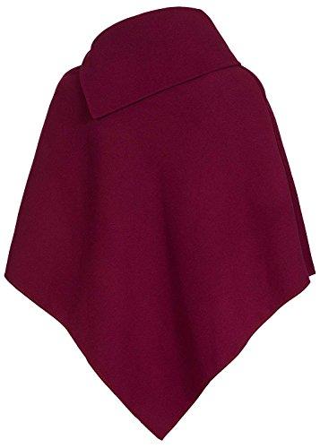 violet Fashion - Poncho - para mujer rojo burdeos