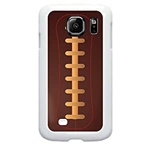 Vector Football- Hard Plastic Case in White- for the Samsung Galaxy s6 Only; Not Compatible with the Galaxy s6 EDGE