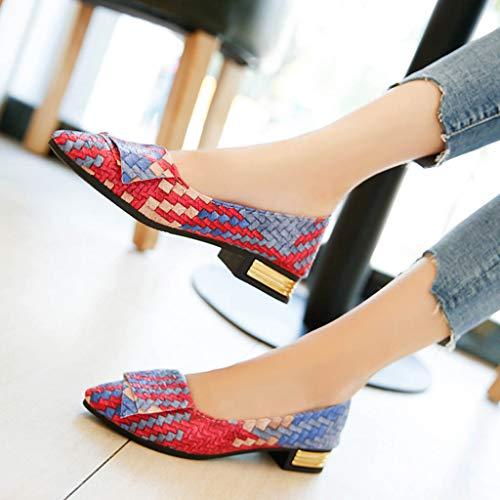 Sport Couleurs Simple Printemps De Mode Pointue Mélangées Fille Brillante Modaworld Jolie Femmes Multicolore Eté Femme Chaussures Couleur Plates qPxw7B8Z
