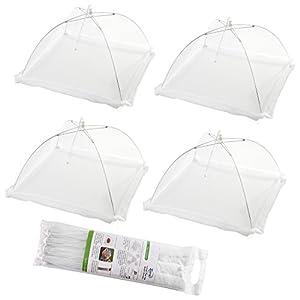 (Set di 4) Tende da copertura per alimenti popolari a schermo piatto pop-up - Tenere fuori mosche, bug, zanzare… 3 spesavip