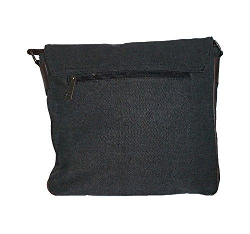 angesagte Tasche, Messengerbag, Laptoptasche, Schultasche mit Sternmotiv A4,schwarz