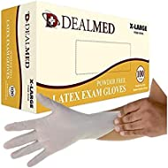 Dealmed Disposable Latex Exam Gloves, 100 Count, Size X-Large