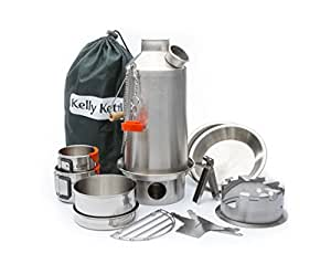 Kelly Kettle Ultimate Stainless Steel Large Base Camp Kit