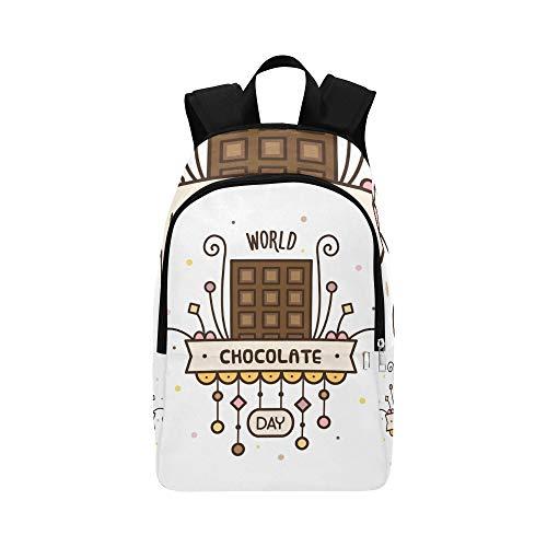 Backpack Shoulder Bag Delicious Sweet Chocolate for Men Women Teachers Bookbag Laptop Backpack Waterproof College Traveling for Traveler