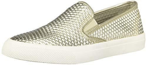(SPERRY Women's Seaside Emboss Sneaker Platinum 8.5 M US)