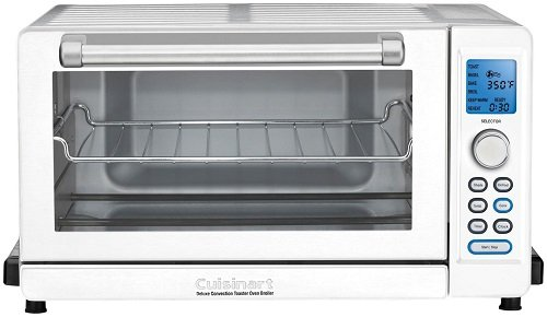 eluxe Convection Toaster Oven Broiler, White ()