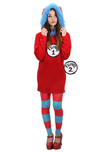 Dr. Seuss Cat in the Hat Thing 1 & 2 Costume Dress L/XL by -