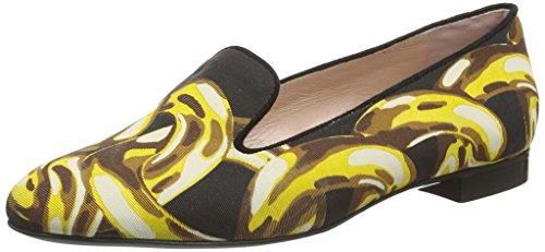 Moschino Spot Slipper Cut Donna Chiuse Ballerine Nere (cg000a Blk / Oro)