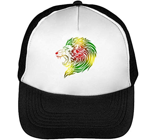 Green Yellow Red Coloured Lion Of Zion Gorras Hombre Snapback Beisbol Negro Blanco