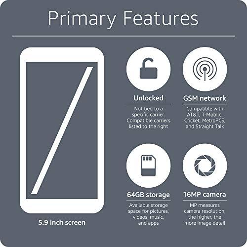 "Huawei Mate SE Factory Unlocked 5.93"" - 4GB/64GB Octa-core Processor  16MP + 2MP Dual Camera  GSM Only  Grey (US Warranty)"
