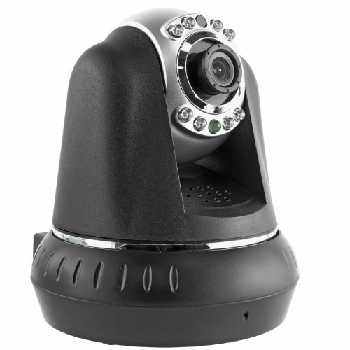 Cavalry IPC10010 Pan & Tilt High Resolution Indoor Wireless IP/Network Camera (Black) - Compatible with Android and iOS