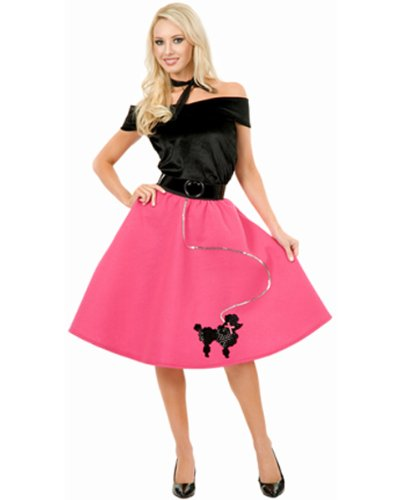 [Charades Costumes CH52132P-3X Womens Plus Size Poodle Skirt Costume Size 3X] (Plus Size Adult Halloween Costumes Ideas)