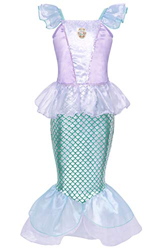 HenzWorld Little Mermaid Ariel Costume Dress Girls Birthday Party Cosplay Outfit Blue