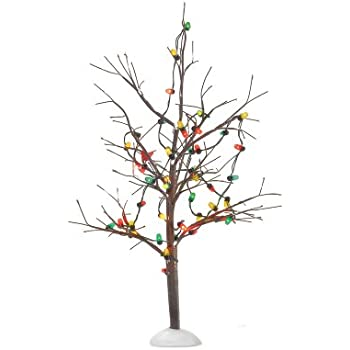 Amazon.com: Department 56 Lighted Christmas Bare Branch Tree: Home ...