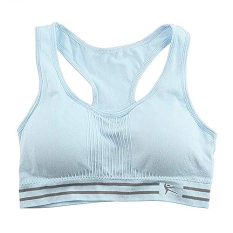 Deasengmins Mujeres sin Costuras Racerback Acolchado algodón ...