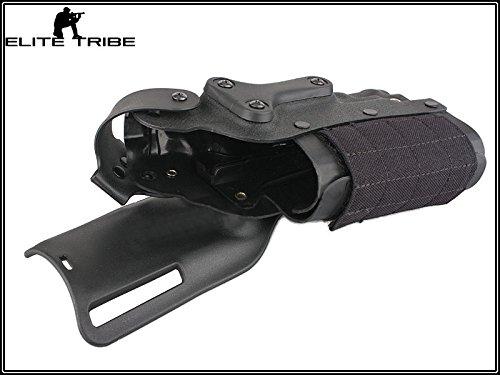 Military Paintball Gun Pistol Holster Safriland Style 3280 Pistol Model Waist Leg Holster Black by Paintball Equipment (Image #4)