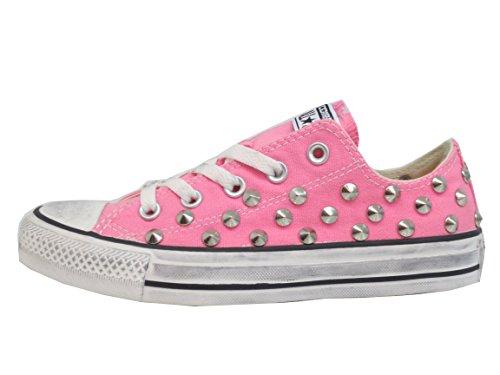 Star Pink Ox Borchie prodotto Converse All Artigianale Rosa Basse PxAB5Cxqw
