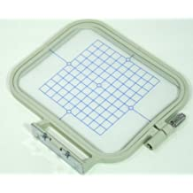 ThreadNanny 4-inch x 4-inch Medium Embroidery Hoop w/ Placement Grid (SA432) for Brother SE270D, SE-350, SE-400, PE-500 HE-120, HE-240, Innovis 500D, Innovis 900D, Innovis 950D, LB6770PRW, LB6800PRW, Babylock Sofia A-Line and Babylock Intrigue by ThreadNanny