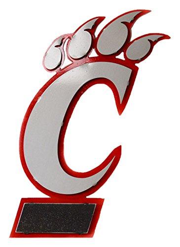 21x14 Collegiate Metal Artwork Large Red//White//Grey 21x14 Collegiate Metal Artwork Large Red//White//Grey University of Cincinnati C Gear New 3D Vintage