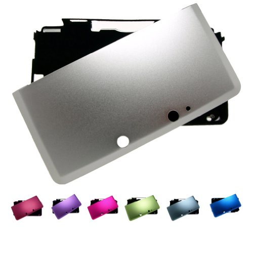 SILVER Nintendo 3DS FULL Aluminum Metal Case Protector Cover + Free Screen Protectors (Many Colors Available), SILVER