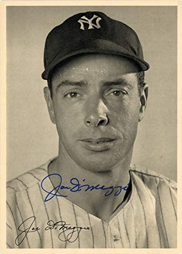 - Joe DiMaggio Signed Auto 6.5x9 Photo Picture Pack 1948 New York Yankees - Beckett Authentic