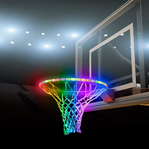 Basketball Light LED Basketball Hoop Lights Outdoor Basketball Rim LED Light Swish Waterproof LED Strap Lights Basketball Net Accessories Basketball Rim Lights for Night Basketball Training Class