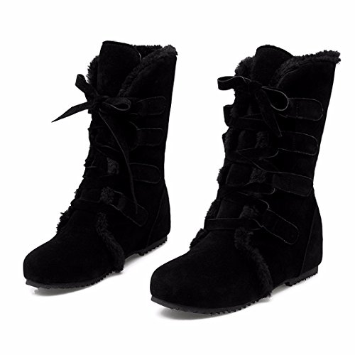 RFF-Women's Shoes Autumn and Winter Women's Shoes, Cotton Boots, Cotton Boots, Big Yards, Student Boots Black