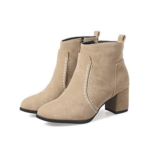 Stiefeletten HCBYJ und Fersen Herbst Damen und Stiefel High Heels Winter Mode Dicke q4wqpCPxU