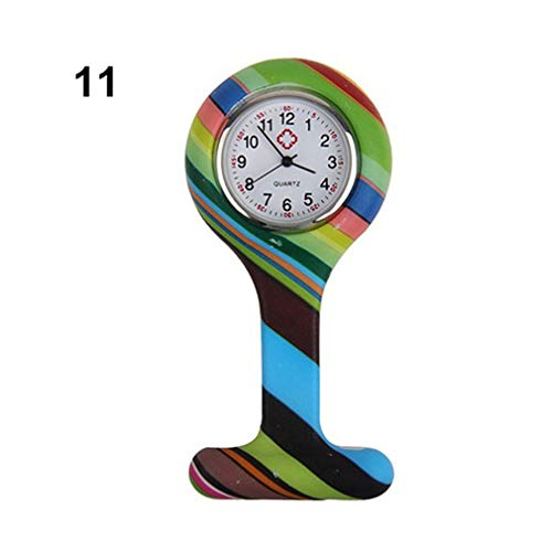 Silicone Fashion Silicone Nurses Watch Brooch Tunic Fob Pocket Stainless Dial Watches LL@17 Style - 3d Optimus Silicone