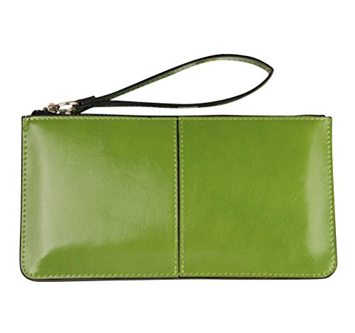 iToolai Womens Solid Color PU Leather Wristlet Clutches Purse Wallet Credit ID Cards Holder