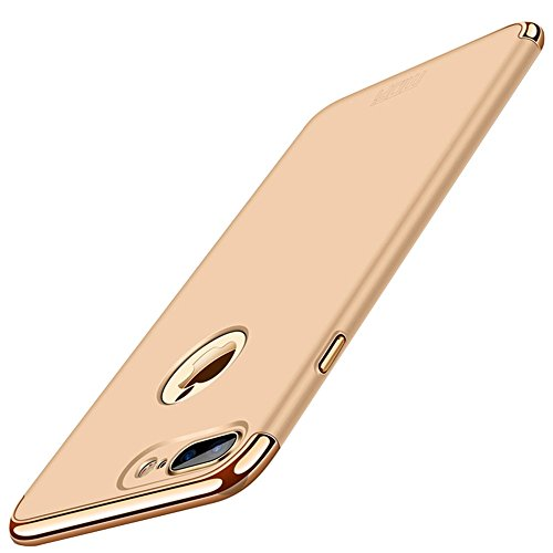 Wkae Ultra-dünne Drei-Stage-Spleißen Galvanische Seite Schutzhülle Rückseite für iPhone 7 Plus iPhone 8 Plus ( Size : Ip7p3652j )