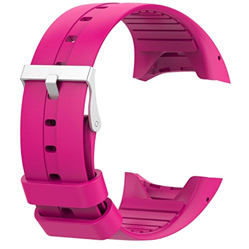 Price comparison product image Owill Soft Silicone Rubber Watch Band Wrist Strap For Polar M400 M430 Fitness Watch,  Band Length: 235MM (Hot Pink)