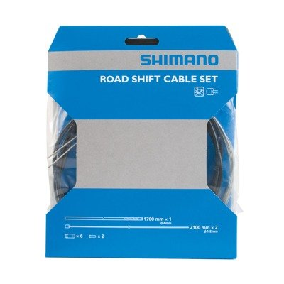 SHIMANO Road Shift Cable and Housing Set (Black) (Front Derailleur Cable)