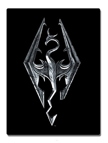 "Price comparison product image Skyrim Emblem Dragon 45"" x 60"" Fleece Throw Blanket"