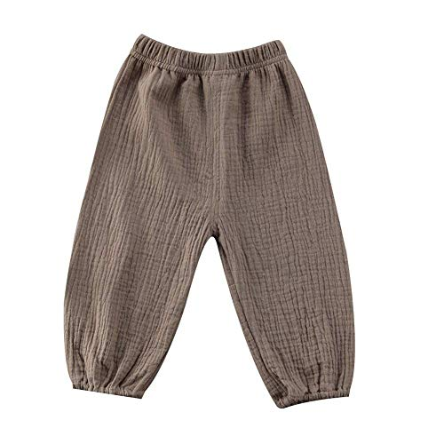 ModnToga Cute Toddler Kids Baby Boy Girl Casual Eelastic Harem Long Pants Bloomers (Coffee, 6-12 Months(80)) -