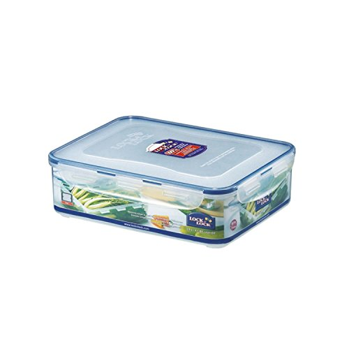 LOCK & LOCK Airtight Rectangular Food Storage Container with Drain Tray 131.87-oz / 16.48-cup