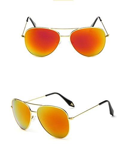 Gafas Gran 7 Espejo amp;Gafas Color amp; Lente polarizada sol Vintage Película de de X9 protecciónn personalidad Gafas Marco Gafas 2 de SwFOH