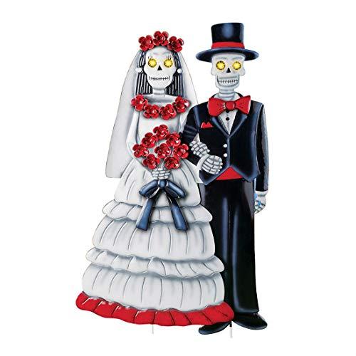 Creepy Bride and Groom Skeleton w/Lighted Eyes Halloween