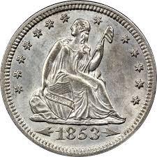 1853 Various Mint Marks Seated Liberty Quarter Quarter Good Or Better