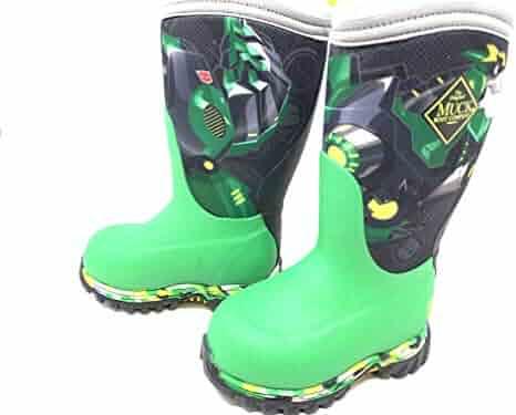 ZLY Kids Toddler Waterproof Non-Slip Rubber Rain Boots 3D Cute Little Dinosaur Rain Boots for Boys Girls