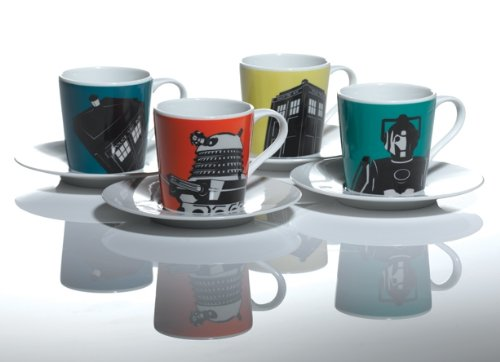 Doctor Who Home Espresso Boxed Cups, Set of 4 BBC Worldwide DWHW12506